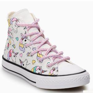 Girls Sz. 3 Converse All Star Unicorn High Tops